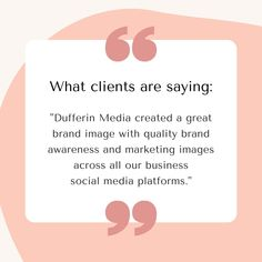 """Dufferin Media created a great brand image with quality brand awareness and marketing images across all our business social media platforms.""  The Importance of Consistency in Social Media Marketing  #sarahclarkebiz #consistency #socialmedia #SMM The Marketing, Social Media Marketing, Digital Marketing, Business Goals, Business Branding, Brand Purpose, Photos On Facebook, Social Media Services, Influencer Marketing"