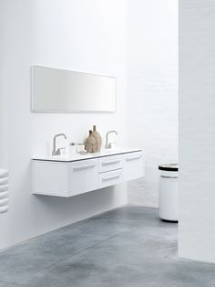 Functional Minimalist White Bathroom Furniture | DigsDigs