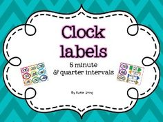 These clock labels come in three themes: stripes, chevron and black and white chevron (ink saver!) Simple to mount on cardstock and laminate for durability. Labels include 5 minute intervals as well as quarter intervals (quarter past, half past, quarter to, o'clock.) Primary Classroom, Classroom Themes, Classroom Organization, Clock Labels, Organization And Management, Chevron, Card Stock, Activities, Education