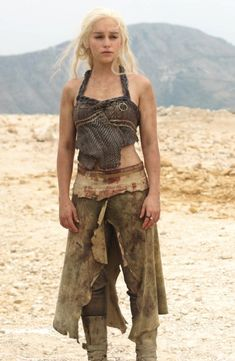 Daenerys Targaryen IS feminine strength. Her character starts off as scared and unsure and as a victim. But through love she finds her inner power and even when she suffers a terrible loss and loses everything she loves, she harnesses the strength within herself and literally becomes a phoenix rising from her situation and taking control.