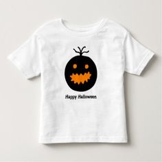 Cute Halloween Pumpkin Toddler T-shirt - kids kid child gift idea diy personalize design