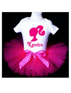 Barbie Tutu Birthday Outfit Costume.