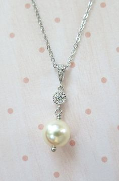Paige Swarovski Cream Pearl and Round Crystal