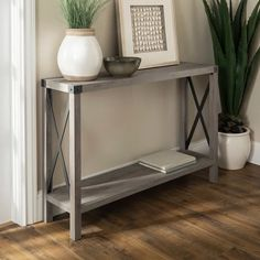 Shop for The Gray Barn Kujawa Entryway Sofa Console Table, X-frame Console Table for Entryway in Grey Wash (As Is Item). Get free delivery On EVERYTHING* Overstock - Your Online As Is Store! Get in rewards with Club O! Entry Tables, Sofa End Tables, Entryway Console Table, Accent Tables, Narrow Entryway Table, Table Mirror, Console Tables, Skinny Tables, Skinny Console Table