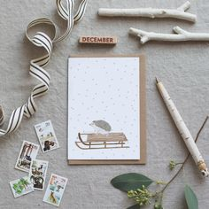 What could be more fun than a sleigh ride? Maybe a sleigh ride with cute little hedgehog as co-pilot! A6 Blank card Printed on beautiful soft white card that comes from sustainable forests in the Lake District. The Brown Kraft envelopes are 100% recycled.