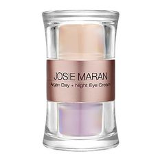 Josie Maran Argan Day + Night Eye Cream 0.66 oz by Josie Maran. $68.00. What it is:A two-in-one complete arsenal of Argan Oil-infused eye defense.What it does:This convenient double-sided package holds two eye creams. The ultra-lightweight Argan Day Eye Cream diminishes the appearance of darkness and fine lines, adding radiance while helping to hold eye makeup in place. Its alter-ego on the other side is an intensely hydrating Argan Night Eye Cream that reduces puffine...