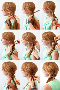 Not your best hair day? Here are 9 hair style guides to combat a bad hair day! Lazy Girl Hairstyles, Braided Hairstyles, Cool Hairstyles, Hairstyle Braid, Hairstyles Haircuts, Bad Hair, Hair Day, Hair Styles 2014, Long Hair Styles