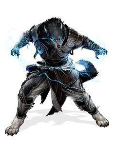 Werewolf Shocking Grasp - Pathfinder PFRPG DND D&D d20 fantasy