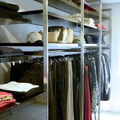 These custom support fins can be made to hold hanging rails and shelving units. Visit our website for more ideas.