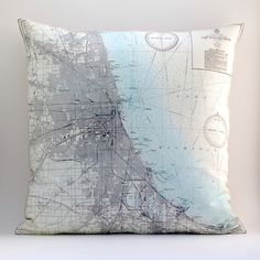 Map Pillows - for playroom if we can find fabric?