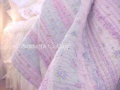 Lavender Blue Ruffles Quilt