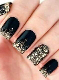 Black & golden sparkle