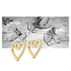 Our Endless Love: Endless Hoops Electric sensations, a thousand butterflies, a sculptural heart, a pair of wings and the power to soar together. This is the essence of love! #cadardesigns #endlesslove #endless #love #hoops #18crt #gold #diamonds #differentsizes #instajewelry #jewelry #jewellery #cupid #cupido #heart #valentines #monthoflove #romance #sundaylove #sundays #lovejewelry #lovefashion #painting #raphael #art