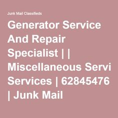 We service and repair all Generators of all makes and sizes. We offer free quotations and competitive rates with fast, professional service.