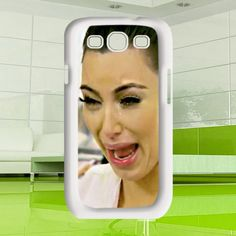 funny cute Kim kardashian ugly crying face Samsung by MuliasCraft, $16.00