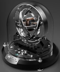 Technically this isn't a watch, but it's beautiful ... Dottling Gyrowinder watch winder-1