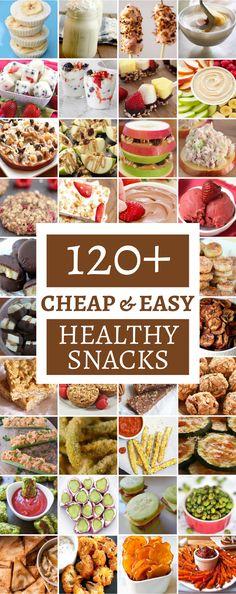120 Cheap & Healthy Snacks