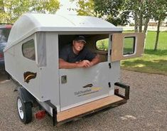 The MINI provides a simple, affordable, customizable camping trailer option Used Camping Trailers, Diy Camper Trailer, Tiny Camper, Small Campers, Micro Campers, Cheap Campers, Camping Trailer Diy, Airstream Camping, Glamping