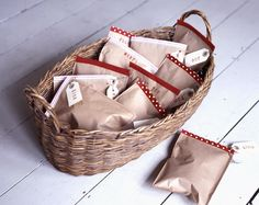 Party bags:  From book 'Homemade Christmas & Festive' Collins UK Oct '12 Photography Ben Derbyshire