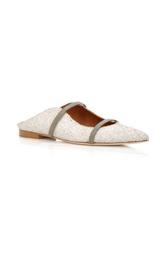 Maureen Glittered Point-Toe Flats by MALONE SOULIERS Now Available on Moda Operandi