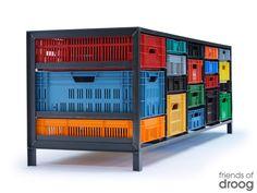 Crates cabinet BY Mark van der Gronden,  through DROOG, Amsterdam