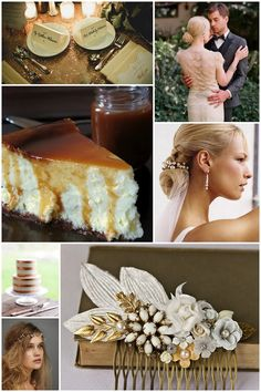 Golden and Gilded {Inspiration Board} on the blog!  http://www.dresstheoryseattle.com/2013/08/golden-and-gilded-inspiration-board.html