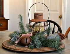 rustic christmas decorations | Rustic Christmas Decorating Ideas » Ideas Interior Wooden Table Decor ...