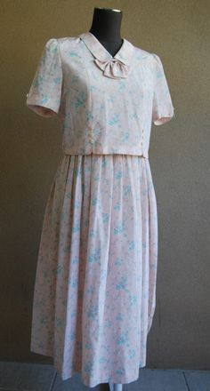 Vintage Japanese tea dress by Rustyeggwhisk on Etsy, $50.00