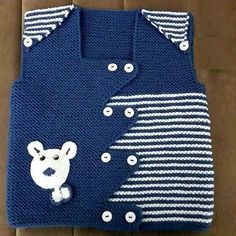 Modern Baby Boy Vest section of information related to. Knitting Blogs, Vogue Knitting, Knitting For Kids, Baby Knitting Patterns, Knitting Socks, Knitting Designs, Baby Patterns, Knitting Projects, Baby Boy Vest