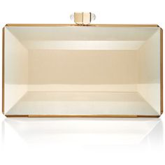 Judith Leiber Couture Reflection Clutch (6.225 BRL) ❤ liked on Polyvore featuring bags, handbags, clutches, bolsa, borse, gold, judith leiber, judith leiber clutches, judith leiber purses and judith leiber handbags