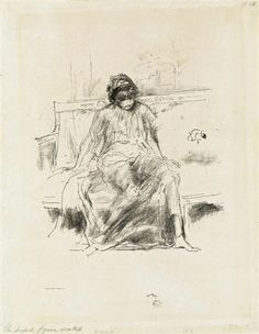 James McNeill Whistler, The Draped Figure, Seated