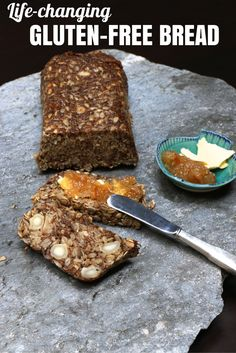 """""""Life-changing bread"""" is not an exaggeration for this delicious, incredibly simple, gluten-free bread loaded with heart-healthy, anti-inflammatory, blood sugar-regulating, appetite-controlling and pro-digestive ingredients."""