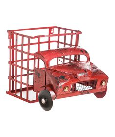 Look at this Vintage Truck Metal Wall Planter/Wine Bottle Holder on #zulily today!