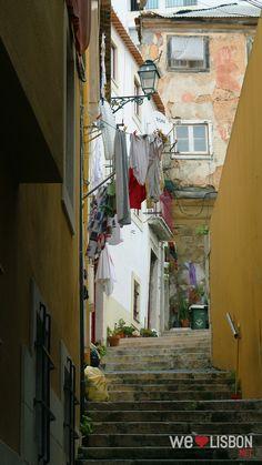 Mouraria traditional neighbourhood in Lisbon
