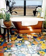 I have wanted this bathroom since it first appeared in the Times 10 yrs ago. Linda Oldham (Todd's mother) made all the tiles!!