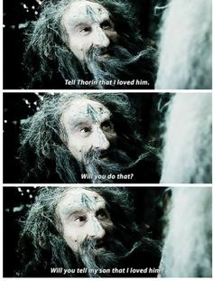 *heart shatters in the silence* *eyes fill with tears* oh my goodness this is the most beautiful/sad extended scene. *weeps for eternity* <- Why on earth was this scene cut (or is it in the extended version and I just haven't seen it? Legolas, Gandalf, Bilbo Baggins, Thorin Oakenshield, Fellowship Of The Ring, Lord Of The Rings, O Hobbit, Hobbit Hole, The Misty Mountains Cold