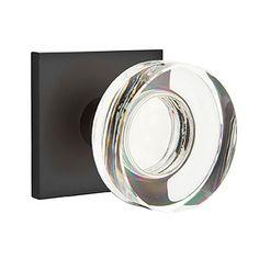 Emtek Disc Crystal Knob With Square Rosette