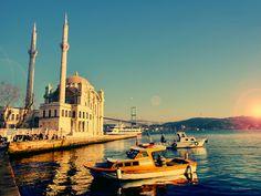 Istanbul Ortakoy Mosque and Bosporous