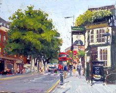 Nostalgia Art, Chelsea London, 2d Art, Painters, Times Square, Illustration Art, British, Street View, King