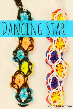 How to Make a Rainbow Loom Dancing Star Bracelet #rainbowloom
