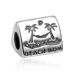 Beach Bum Charm 925 Sterling Silver Fit All Brands
