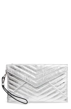 9ad25bfa4c5a Rebecca Minkoff Leo Quilted Leather Clutch available at  Nordstrom Quilted  Leather