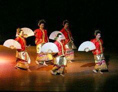 Kipas dance, Bugis People,  Sulawesi Selatan Province, Indonesia.