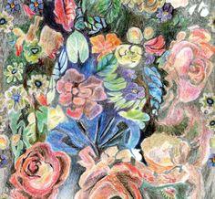 Wallpaper with floral pattern PASTELLO by Wall&decò design Talva Design