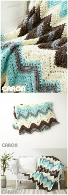 diy_crafts-I have rounded up some of the best and interesting free crochet Blanket patterns for your home.Cabin In The Woods Afghan Free Crochet Patte Crochet Afghans, Easy Crochet Blanket, Crochet Ripple, Crochet For Beginners Blanket, Crochet Quilt, Manta Crochet, Crochet Stitches, Free Crochet, Crochet Blankets