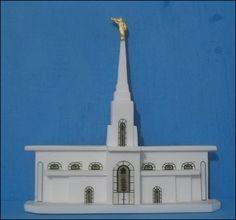Miniatura do Templo de Campinas <br>Feito artesanalmente em resina branca, opcional cor fluorescente(fica iluminado no escuro-valor a consultar)