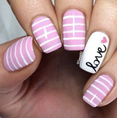 Pink and white stripes by Lieve91