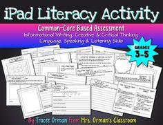 iPad Literacy Common Core Writing Activity {Grades 3-5} - For Grade 3 practices W.3.1, W.3.4, W.3.5, W.3.8, L.3.2, L.3.3, SL.3.4, SL.3.6 (see all specific standards in description.) $