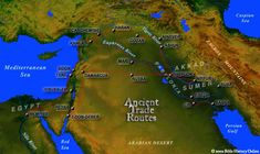 Map of Ancient Trade Routes from Mesopotamia