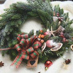 Handmade Christmas wreath for front door